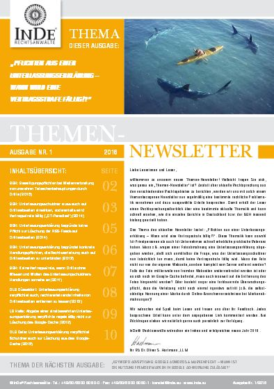 Cover Themen-Newsletter